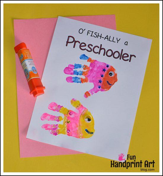 1st Day of School Handprint Craft