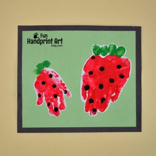 Berry Sweet Handprint Strawberry Craft for Kids