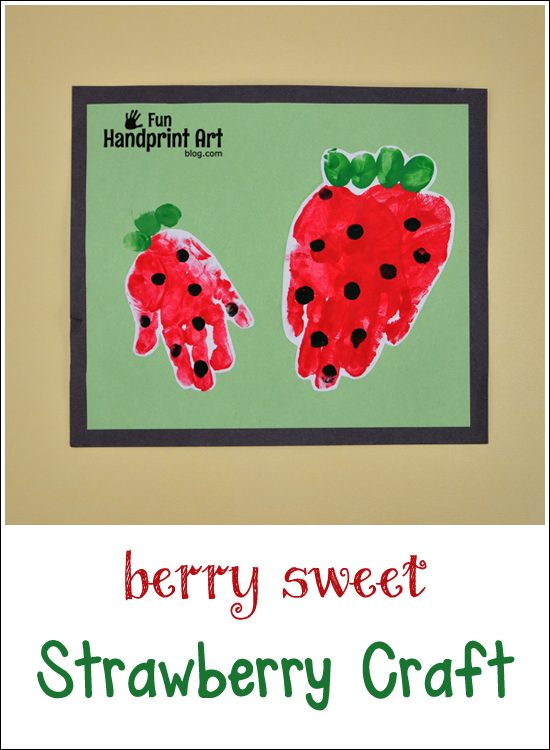 Berry Sweet Handprint Strawberry Craft