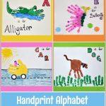 Handprint Alphabet – Letters A, B, C, & D