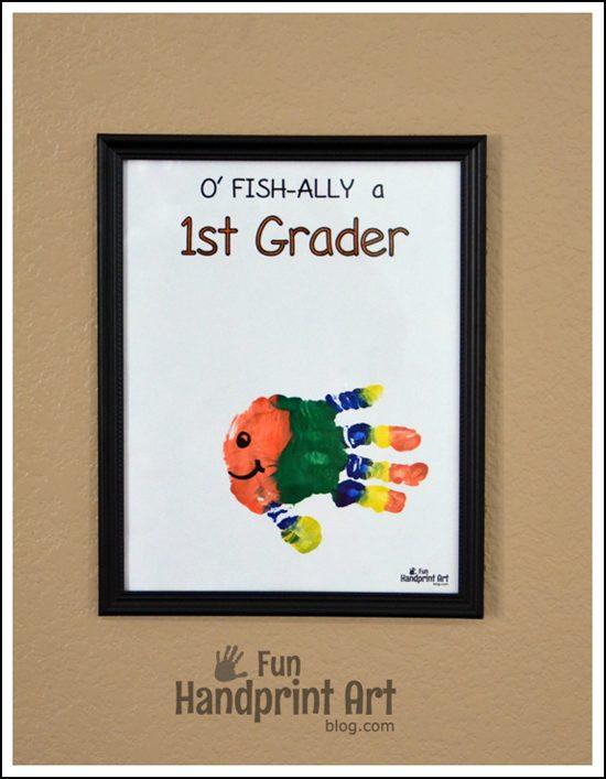 O' FISH-ally a 1st Grader Handprint FIsh Keepsake