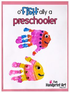O'FISH'ally a Preschooler Handprint Fish Printable for the 1st Day of School