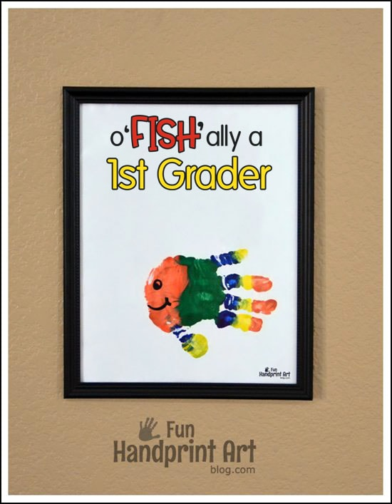 o'FISH'ally a 1st Grader Handprint Craft & First Day of School Keepsake
