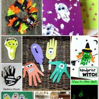 Halloween Handprint Crafts