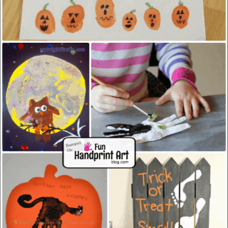 Fun Halloween Crafts made with Handprints & Footprints