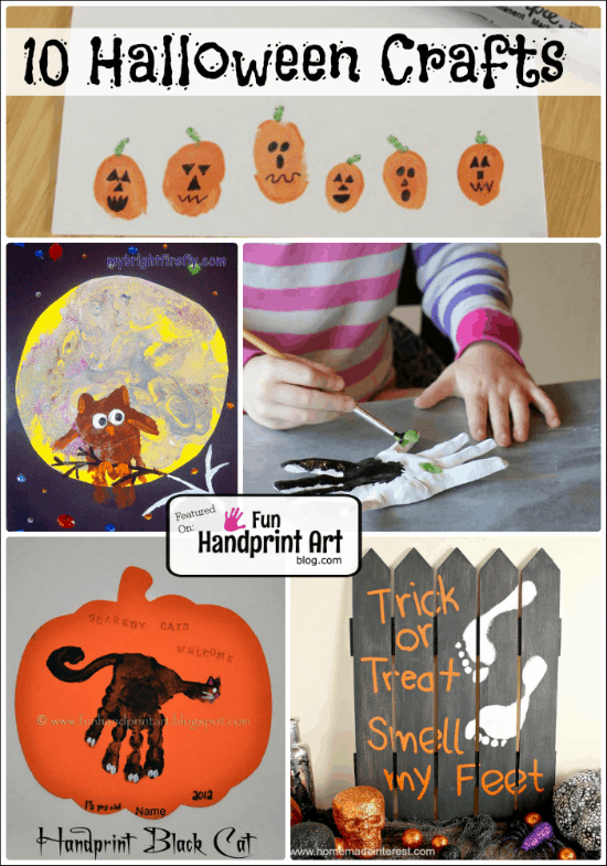 10 Handprint Crafts made with Handprint and Footprints