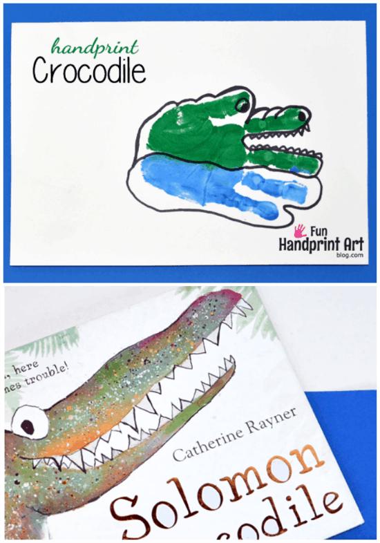 Crocodile Handprint Craft for Kids