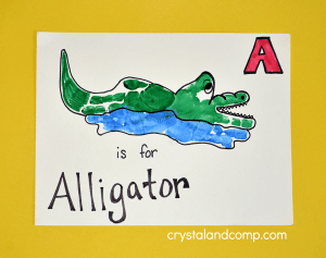 Hand-Print-Art-A-is-for-Alligator-Craft