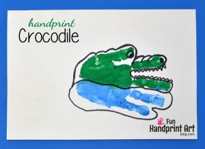 Handprint Crocodile Craft for Kids
