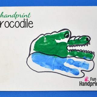 Handprint Crocodile or Alligator Craft for Kids