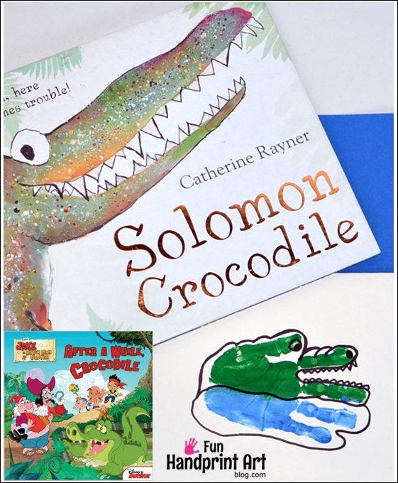 Solomon Crocodile and Handprint Crocodile Craft