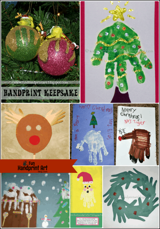 10 Christmas Handprint Crafts for Kids