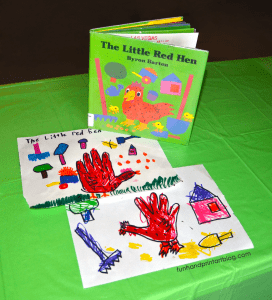 The Little Red Hen Handprint Craft