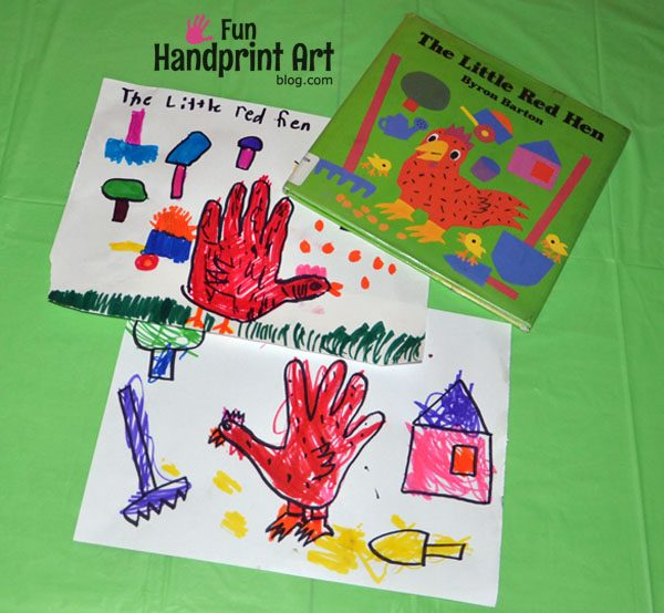 Handprint Craft for The Little Red Hen