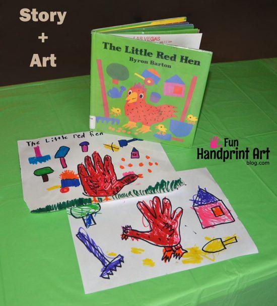 The Little Red Hen Handprint Art