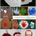 DIY Keepsake Ornaments made with Handprints