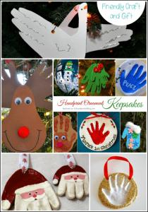 Christmas Handprint Ornament Keepsakes