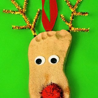 DIY Salt Dough Reindeer Keepsake Ornaments