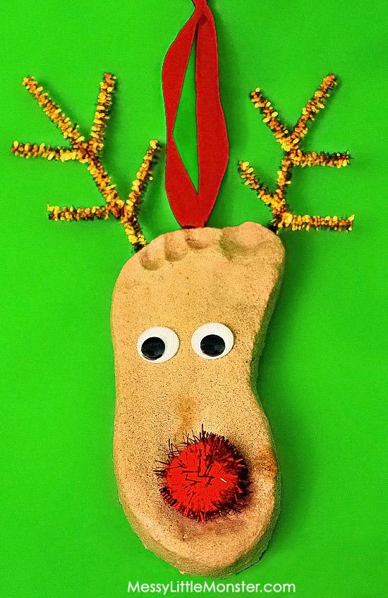 DIY Salt Dough Reindeer Keepsake Ornaments