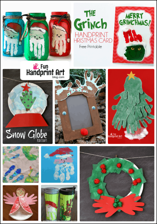 Fun & Festive Christmas Hand Print Crafts for Kids