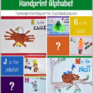 Handprint Alphabet Crafts