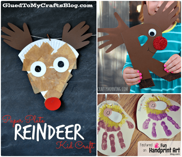 Handprint Christmas Crafts for Kids