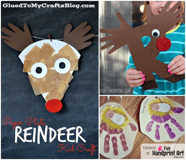 Handprint Christmas Crafts for Kids