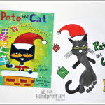 Pete the Cat Saves Christmas Footprint Craft