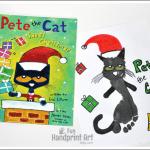 Pete the Cat Saves Christmas Footprint Craft