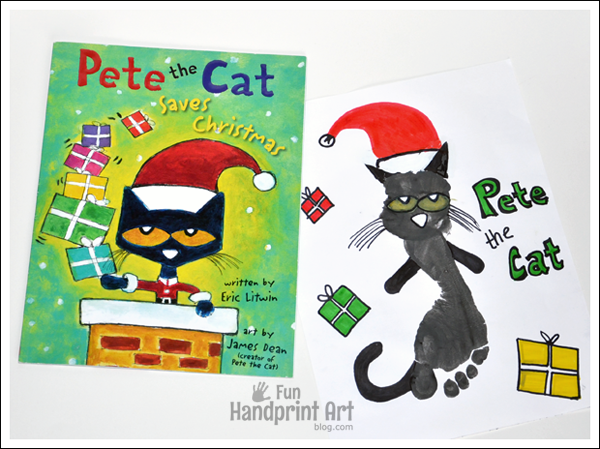 pete the cat saves christmas craft for kids - Pete The Cat Saves Christmas