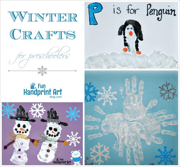 Winter Handprint Art