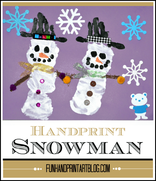 Winter Preschool Craft: Handprint Snowman