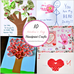 10 Handprint Crafts for Valentine's Day