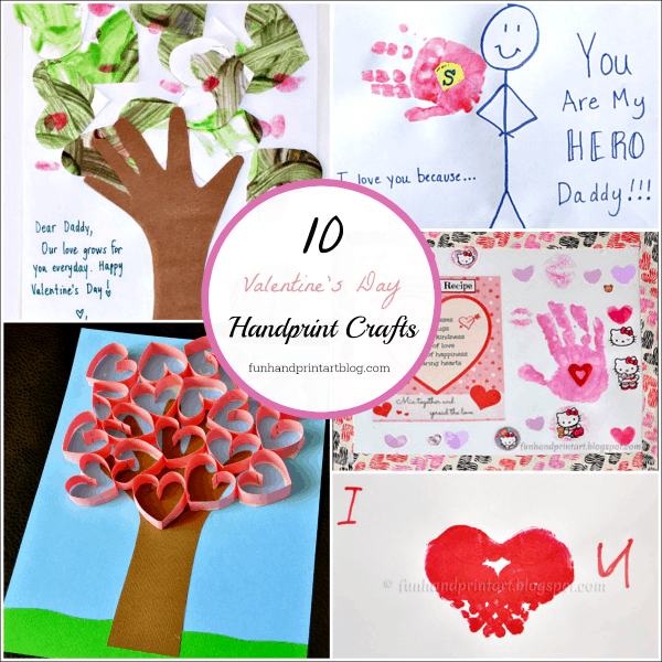 Top 10 Valentine S Day Handprint Art Fun Handprint Art