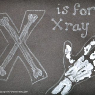 Handprint X-ray – Letter X Craft