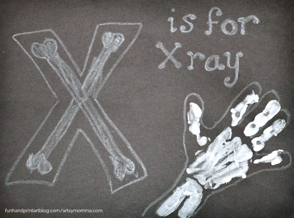 Handprint X Ray Letter X Craft Fun Handprint Art