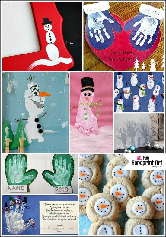 Winter Handprint Art Projects for Kids