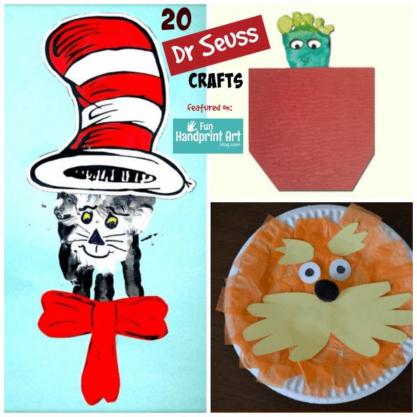 20 Dr Seuss Handprint & Footprint Crafts