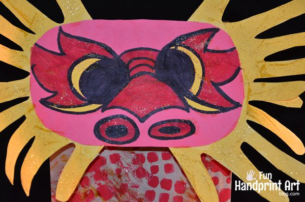 Chinese Dragon Handprint Puppet