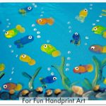 Fingerprint Fish Aquarium Craft