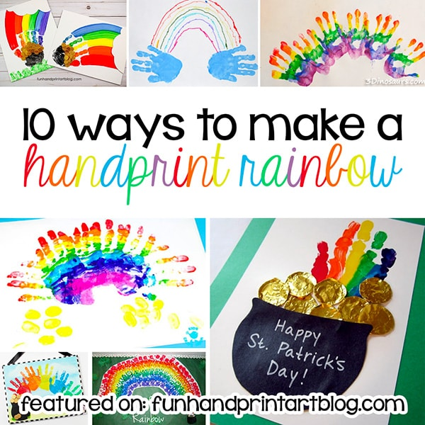 Top 10 Ways to make a Handprint Rainbow craft with kids