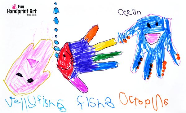 Kids Hand Drawings: Ocean Animals