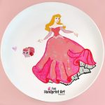 Sleeping Beauty Handprint Plate Keepsake