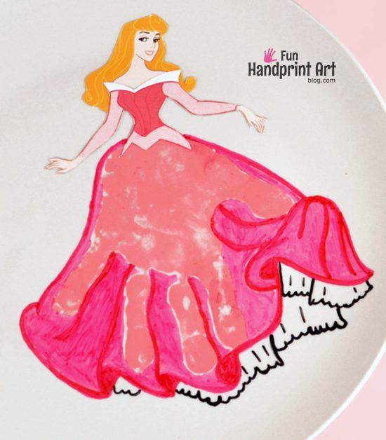 Sleeping Beauty Handprint - Princess Aurora Craft