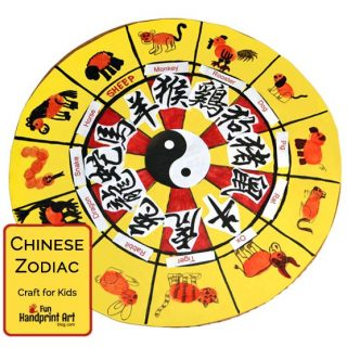 Thumbprint Chinese Zodiac Craft for Kids