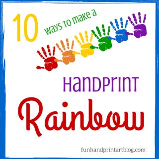 Top 10 Ways to make a Handprint Rainbow