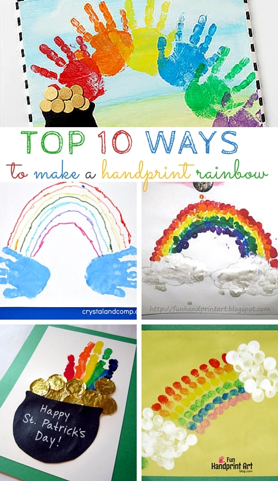 Top 10 Ways to make a Handprint Rainbow