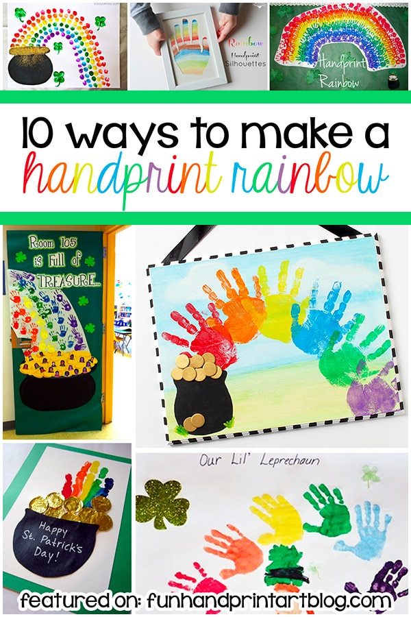 Fun & Creative Handprint Rainbow Crafts for toddlers, preschoolers, and kindergartners