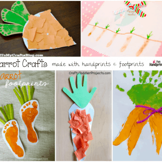 Carrot Crafts made with Handprints and Footprints!