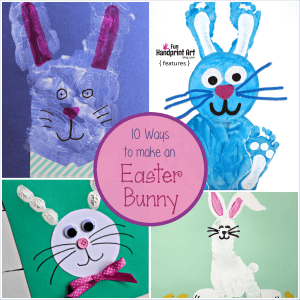 Easter Bunny Crafts made with Handprints & Footprints